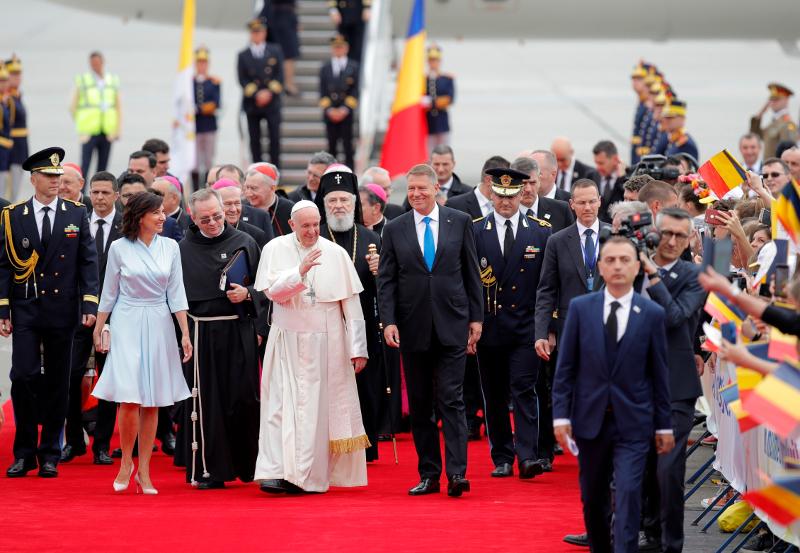 Αφιξη του Πάπα Φραγκίσκου