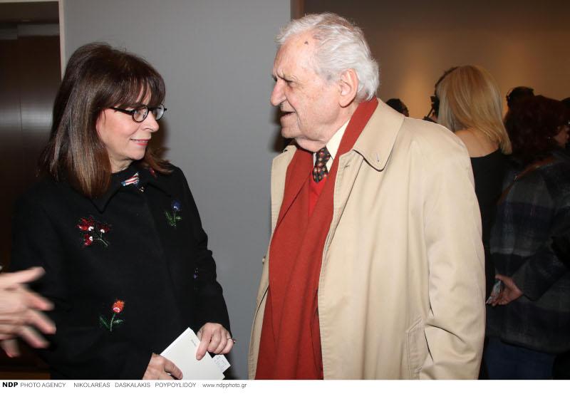 Η Αικατερίνη Σακελλαροπούλου με τον Τίτο Πατρίκιο