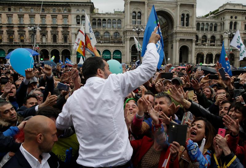 Ο υπουργός Εσωτερικών της Ιταλίας, Ματέο Σαλβίνι