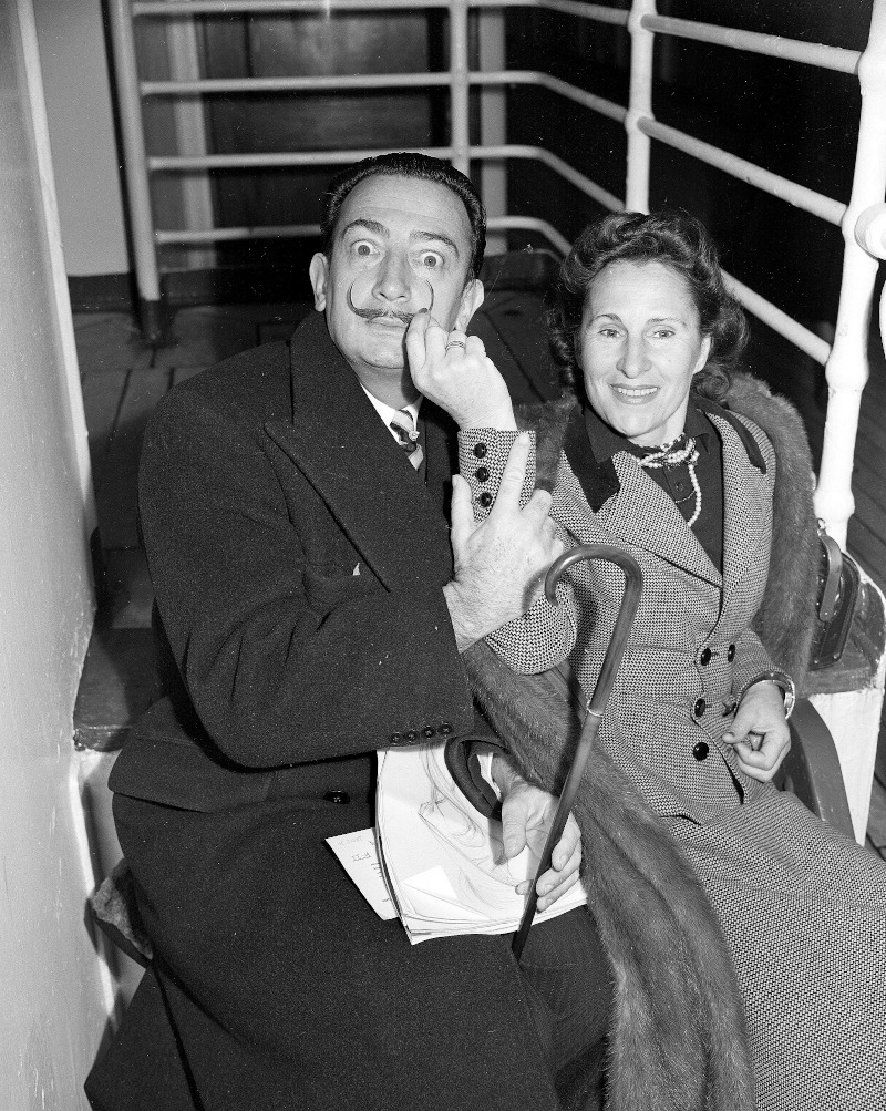Ο Νταλί με τη σύζυγό του, Γκαλά.