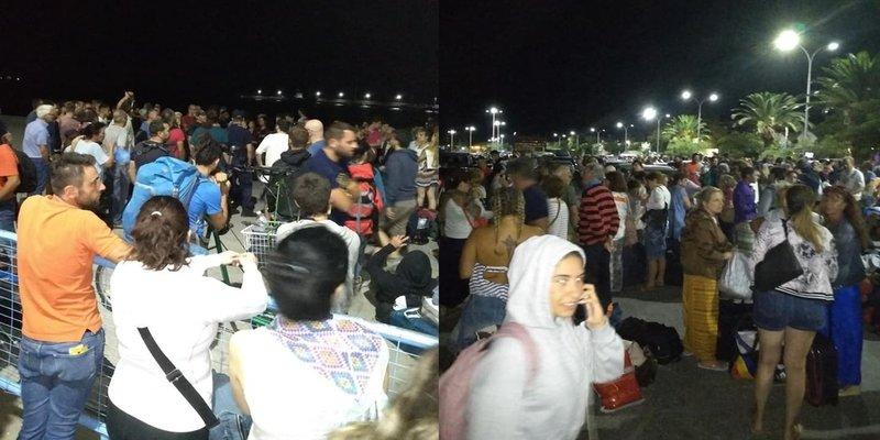 Εκατοντάδες επιβάτες στο λιμάνι της Σαμοθράκης