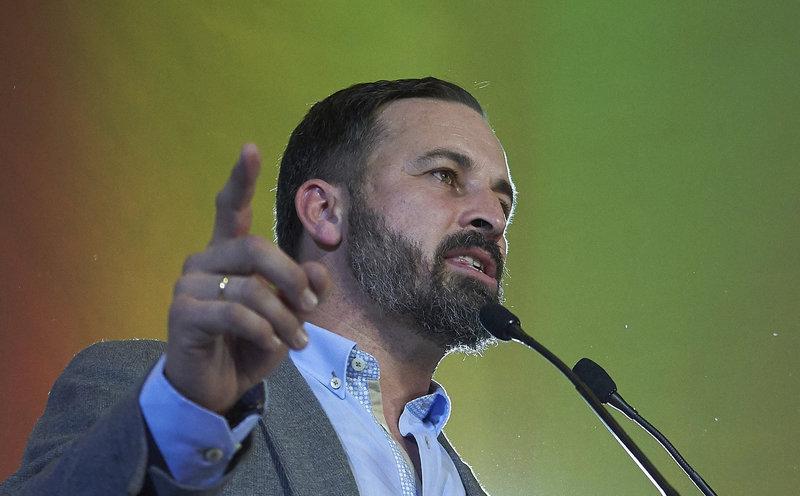 O Ισπανός ηγέτης του ακροδεξιού Vox Σαντιάγο Αμπασκάλ