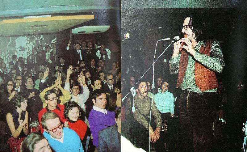 O Διονύσης Σαββόπουλος, στο Rodeo ενώ παρουσιάζει τον κύκλο τραγουδιών, Το Περιβόλι του Τρελλού (Χειμώνας 1969-1970). Οι παραστάσεις αυτές, άλλαξαν την πορεία του ελληνικού ροκ, αποτελώντας την αρχή της ελληνικής ψυχεδέλειας
