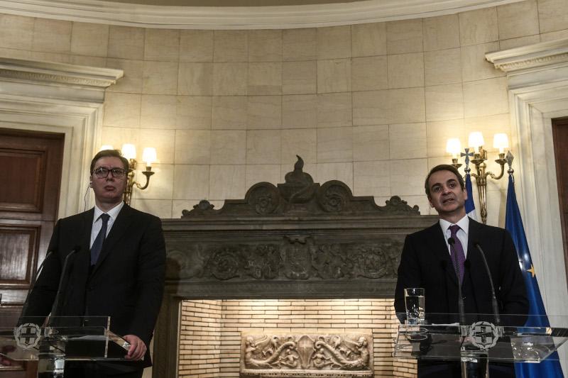 Ο πρόεδρος της Σερβίας και ο Κυριάκος Μητσοτάκης