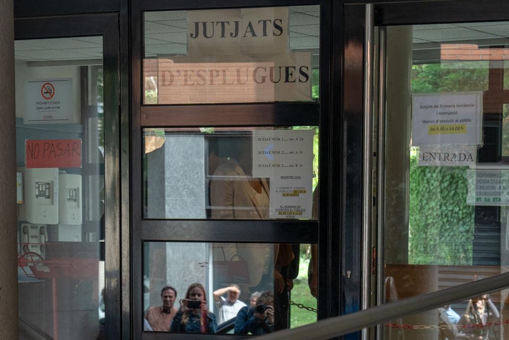 Η Σακίρα εντός της δικαστικής αίθουσας στην Ισπανία το πρωί της Πέμπτης