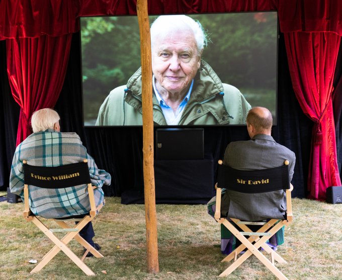 Πρίγκιπας Γουίλιαμ και Σερ Ντέιβιντ Ατένμπορο παρακολούθησαν σε ειδική προβολή το ντοκιμαντέρ του παρουσιαστή