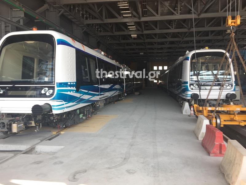 Στις ράγες τροχιοδρομείται ο δεύτερος συρμός του Μετρό Θεσσαλονίκης