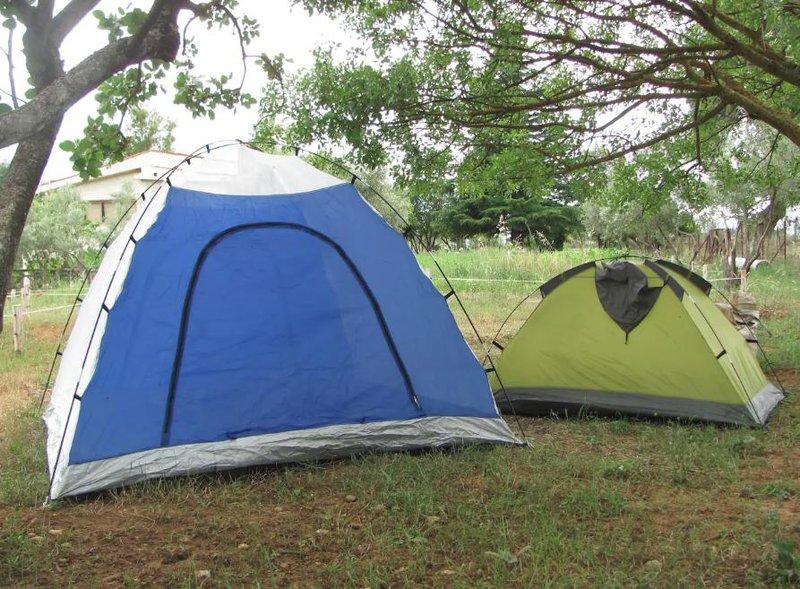 Σκηνές στημένες στο αγρόκτημα Airbnb