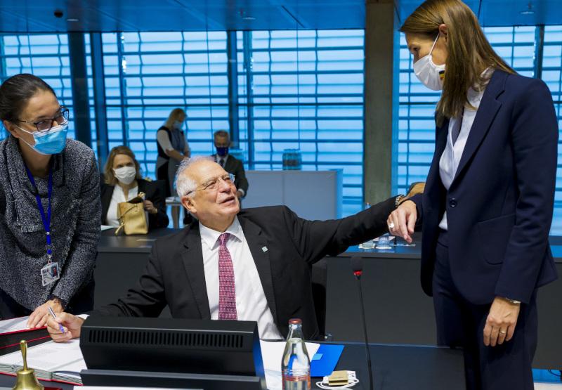 Η Σοφί Βίλμες είχε παραβρεθεί στην σύνοδο των υπουργών Εξωτερικού της ΕΕ στις 12 Οκτωβρίου