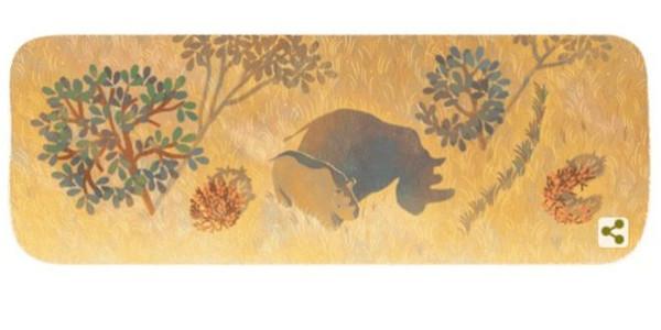 Το doodle της Google για τον τελευταίο αρσενικό βόρειο λευκό ρινόκερο