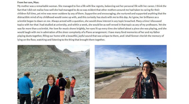 Το αποχαιρετιστήριο μήνυμα του γιου της δολοφονημένης Σούζαν Ιτον