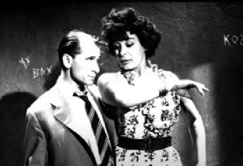 Η Σπεράντζα Βρανά με τον Κώστα Χατζηχρήστο στην ταινία «ο Σκληρός άνδρας» του 1961