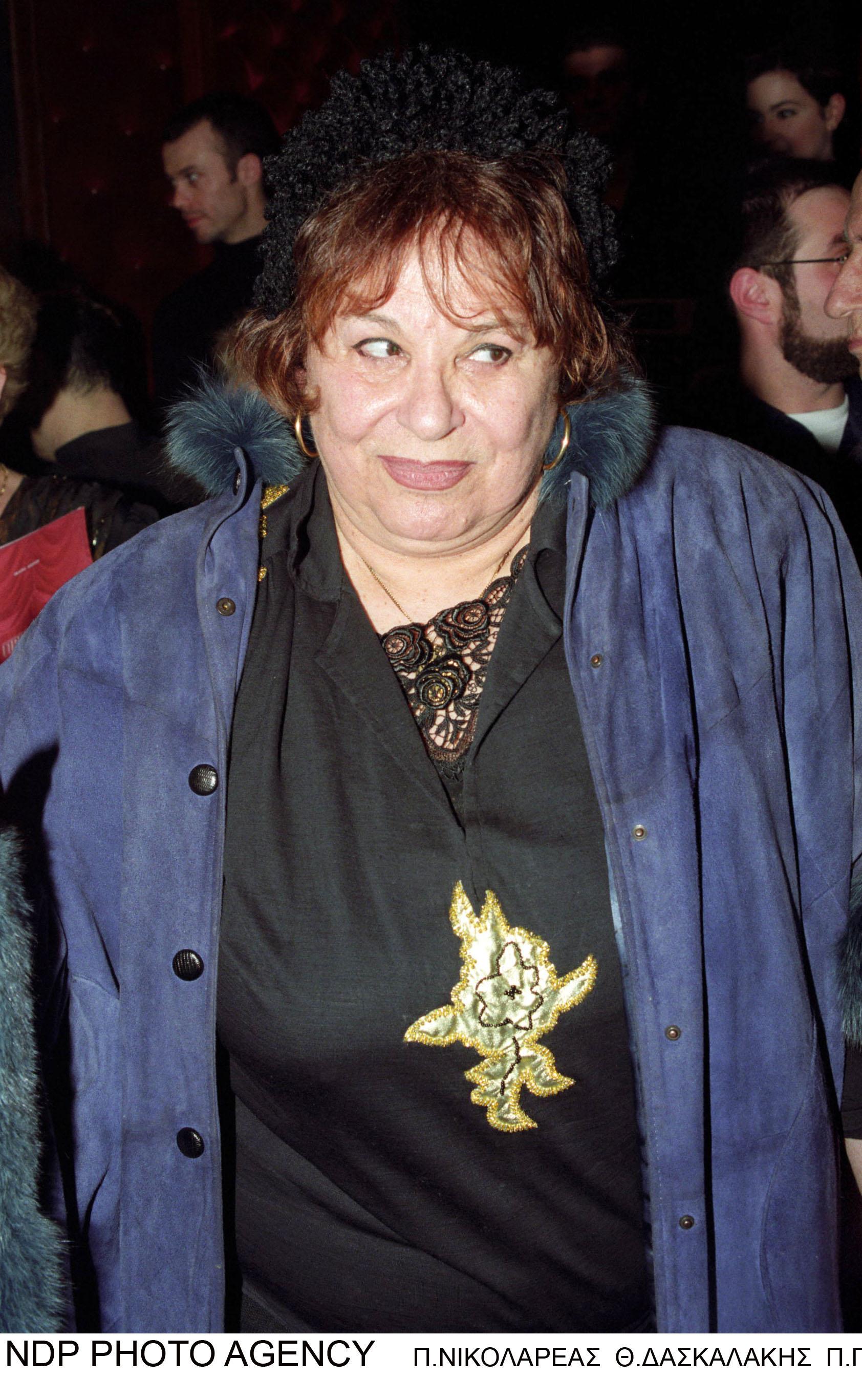 Η Σπεράντζα Βρανά σε μία από τις τελευταίες εμφανίσεις της