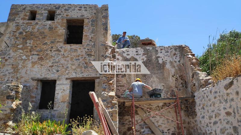 Εργασίες αποκατάστασης στην Σπιναλόγκα