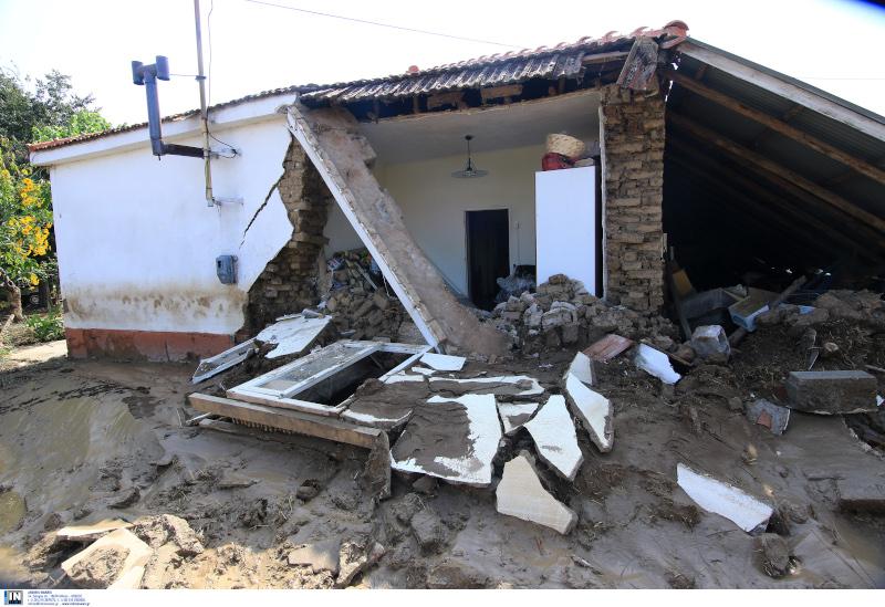 Σπίτι λύγισε από τον «Ιανό» στην Καρδίτσα