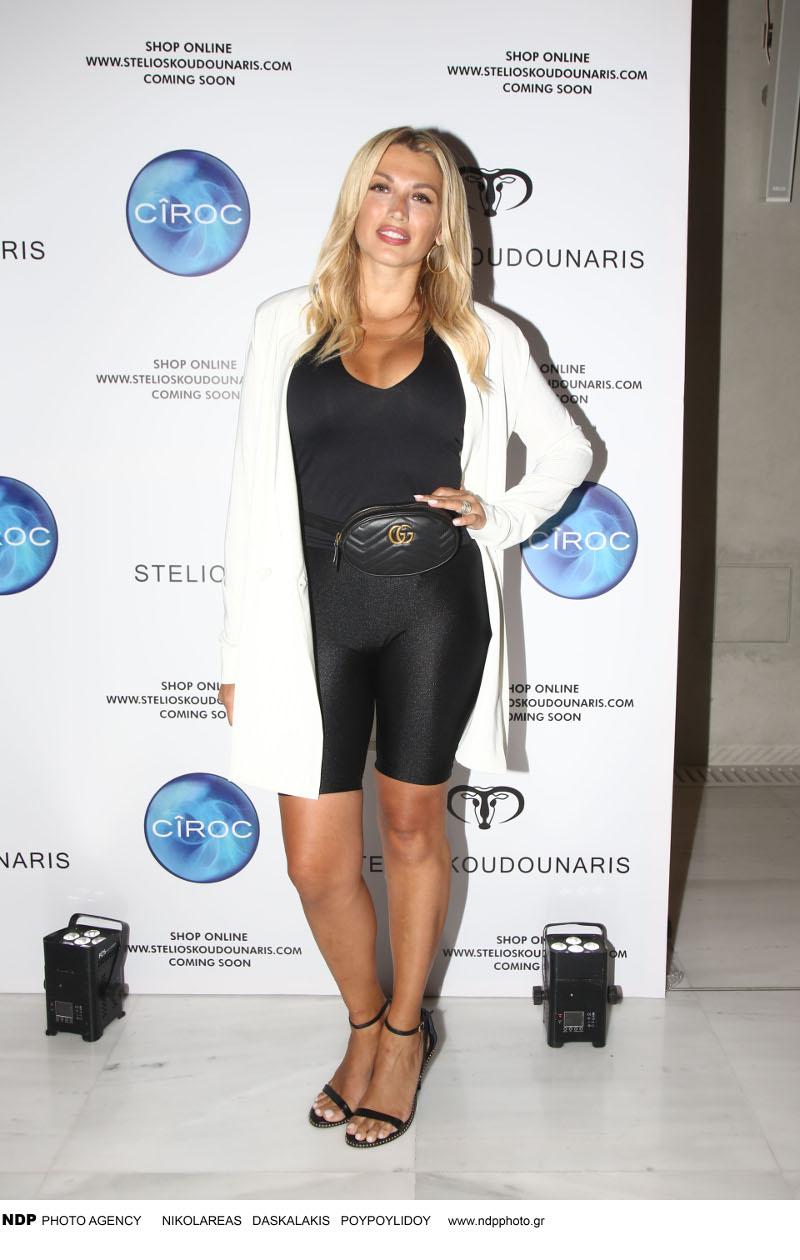 Η Κωνσταντίνα Σπυροπούλου με biker shorts