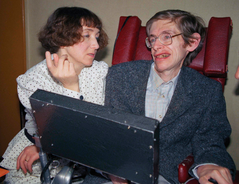 Ο Stephen Hawking με τη σύζυγό του Jane, που είναι 20 ετών