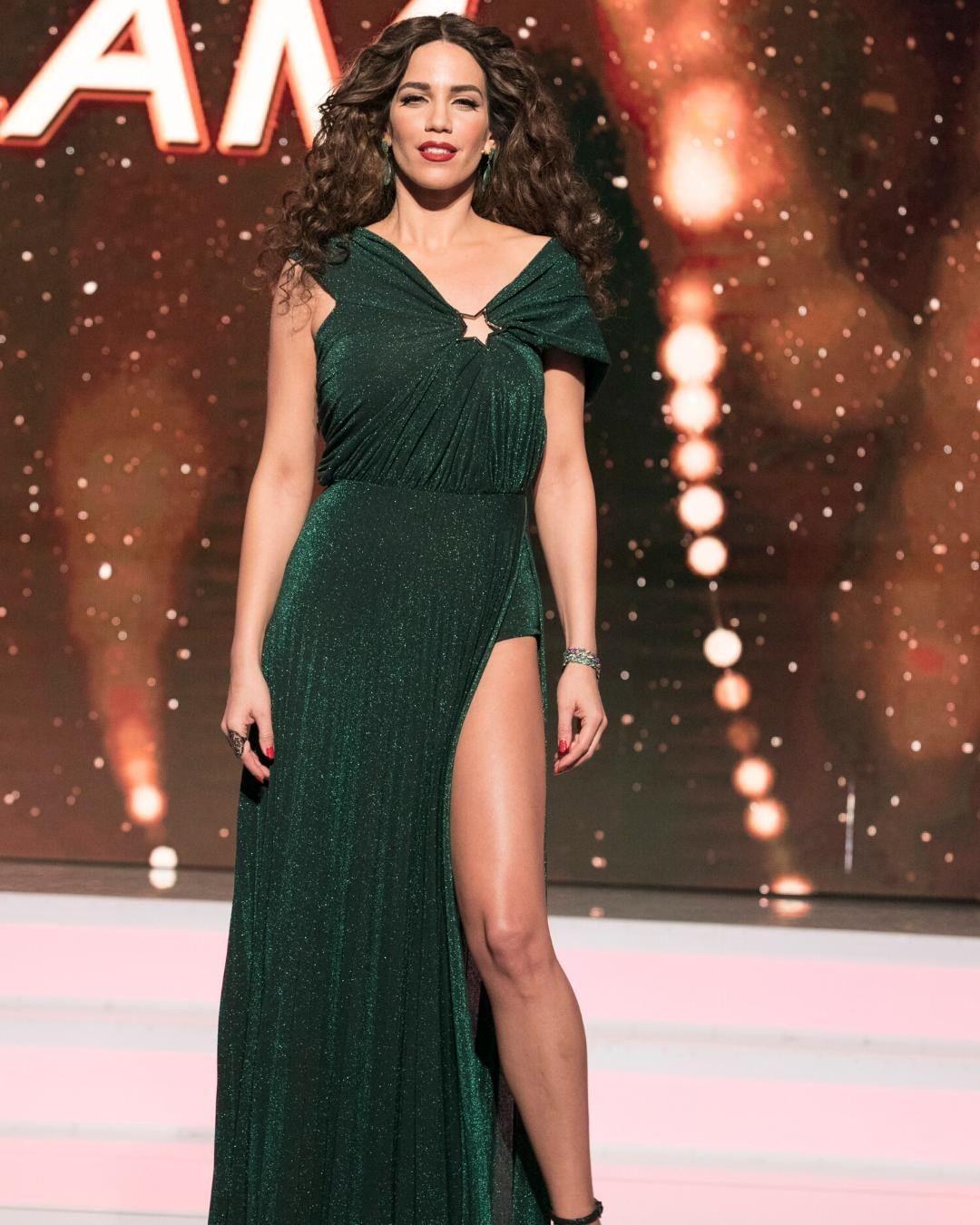 Κατερίνα Στικούδη με φόρεμα Elisabetta Franchi