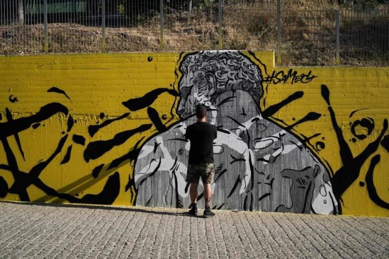 Street art στην οδό Θεσσαλονίκης