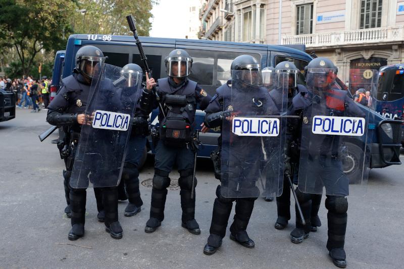 Σε επιφυλακή η αστυνομία στη Βαρκελώνη / Φωτογραφία: AP