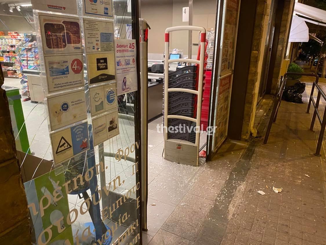 Βανδαλισμοί σε σούπερ μάρκετ στην Θεσσαλονίκη