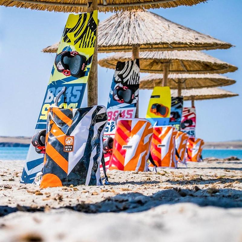 Kite boards στην παραλία