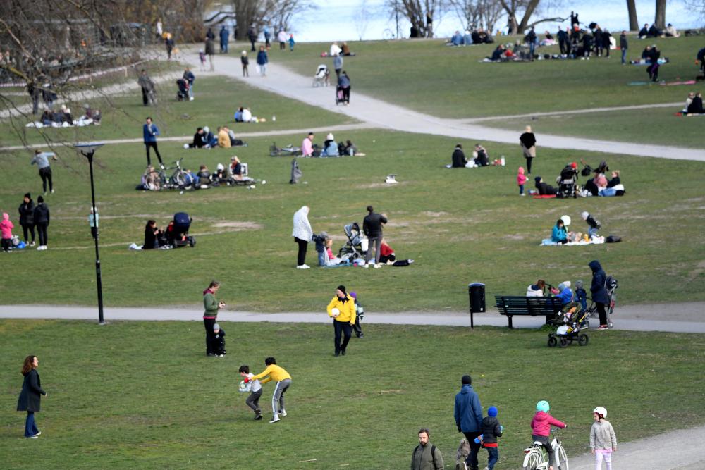 Σουηδία πάρκο γεμάτο κόσμο