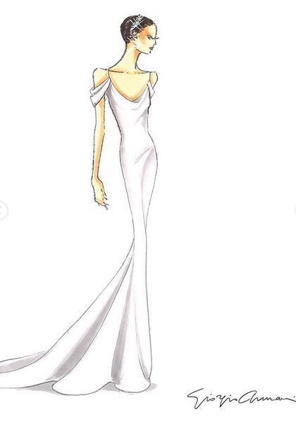 Το σχέδιο του Giorgio Armani για το δεύτερο φόρεμα της Κάθριν Σβαρτσενέγκερ