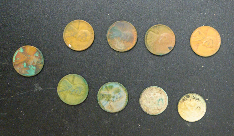 Εννέα κέρματα περιείχε το πορτοφόλι στο εσωτερικό του, που βρέθηκε μαζί με την τσάντα της Πάτι