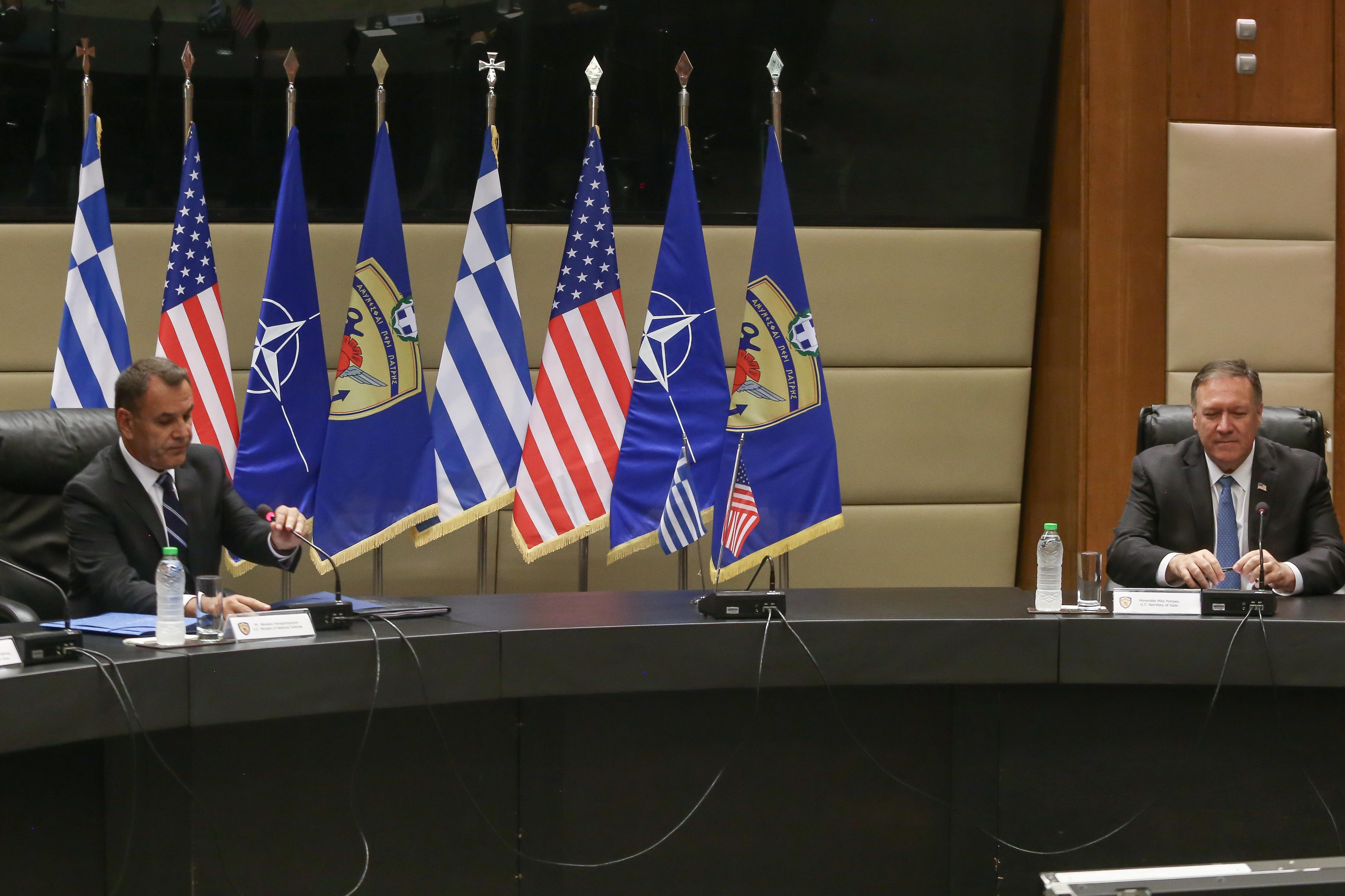 Συνάντηση του ΥΕΘΑ Νίκου Παναγιωτόπουλου με τον Υπουργό Εξωτερικών των ΗΠΑ, Μάικ Πομπέο
