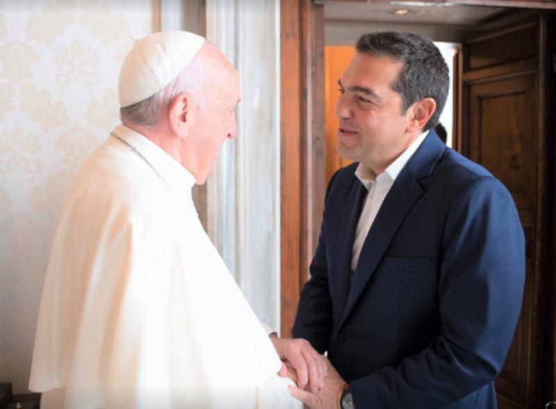 Ο Αλέξης Τσίπρας συναντήθηκε με τον Πάπα Φραγκίσκο στο Βατικανό / Φωτογραφία: Facebook
