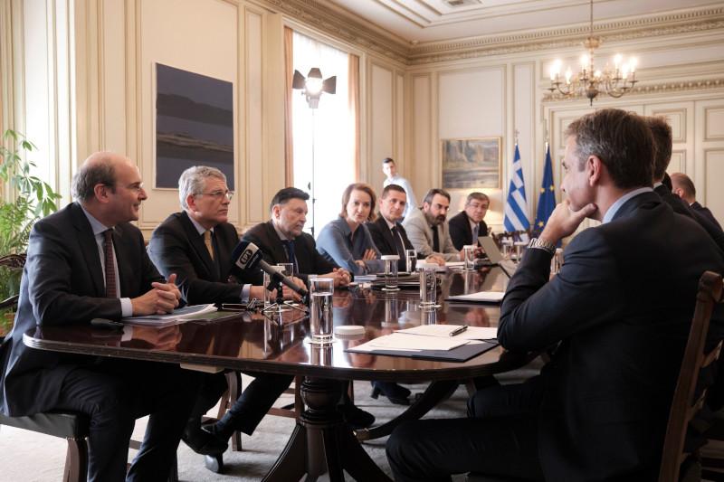 Συνάντηση της πολιτικής ηγεσίας του ΥΠΕΝ με τον πρωθυπουργό, Κυριάκο Μητσοτάκη