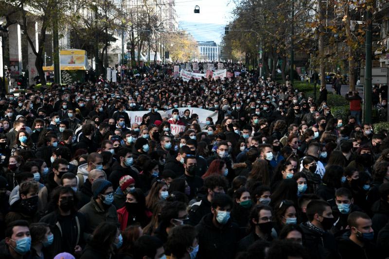 συνωστισμός πανεκπαιδευτικό συλλαλητήριο Αθήνα