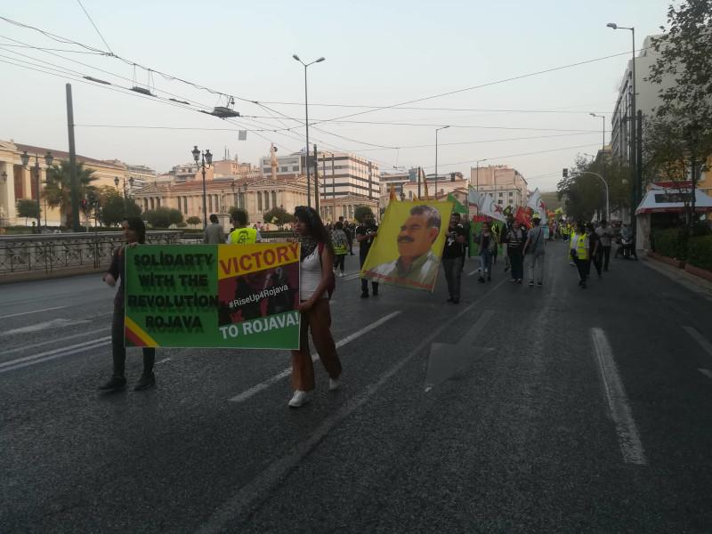 Οι πορεία των Κούρδων ξεκίνησε από τα Προπύλαια