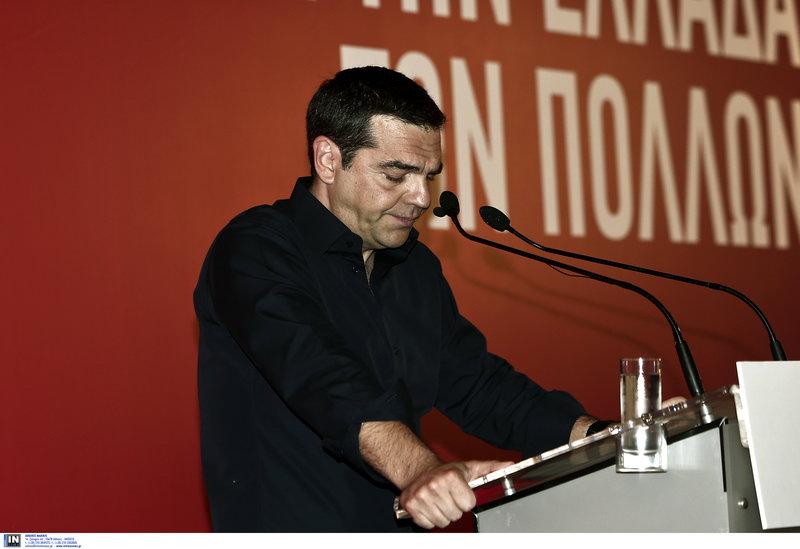 Χαρακτηριστικό στιγμιότυπο από την ομιλία Τσίπρα στην ΚΕ του ΣΥΡΙΖΑ