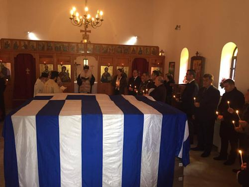 Επιμνημόσυνη δέηση για τα οστά των Ελλήνων πεσόντων / Φωτογραφία: tachydromos.org