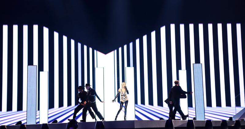 Η Τάμτα στη σκηνή της Eurovision