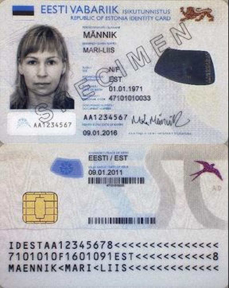 ταυτότητα Εσθονίας