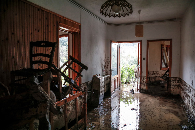 Καταστροφές σε σπίτι στη Θάσο