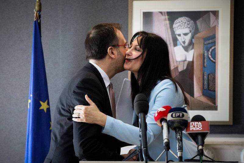Θανάσης Θεοχαρόπουλος και Έλενα Κουντουρά