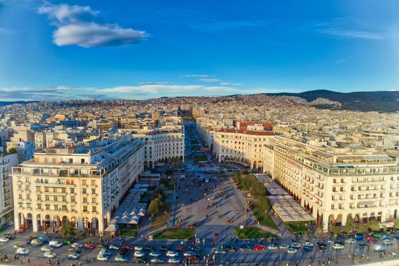 H πλατεία Αριστοτέλους από ψηλά.