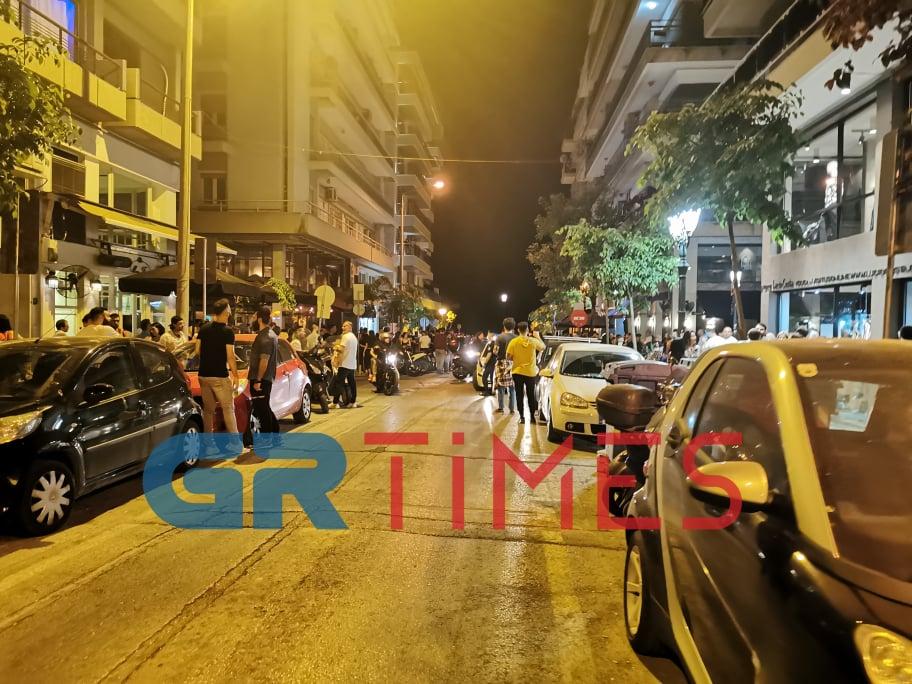 Γέμισαν δρόμοι απόψε στη Θεσσαλονίκη και προκάλεσαν την επέμβαση της ΕΛΑΣ
