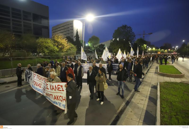 Η πορεία για το Πολυτεχνείο στη Θεσσαλονίκη ξεκίνησε από την Εγνατία / Φωτογραφία: EUROKINISSI