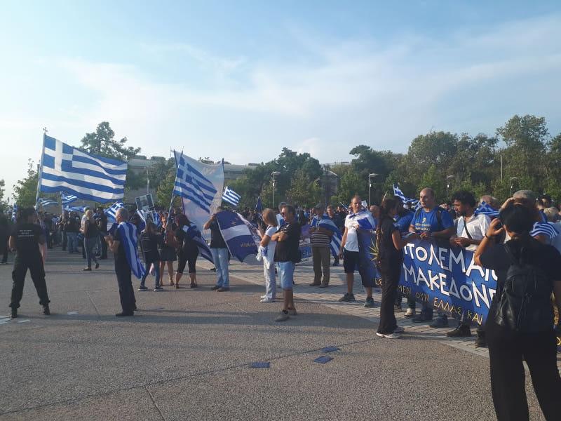 Συγκέντρωση διαμαρτυρίας στη Θεσσαλονίκη για τη Συμφωνία των Πρεσπών / Φωτογραφία: thestival.gr