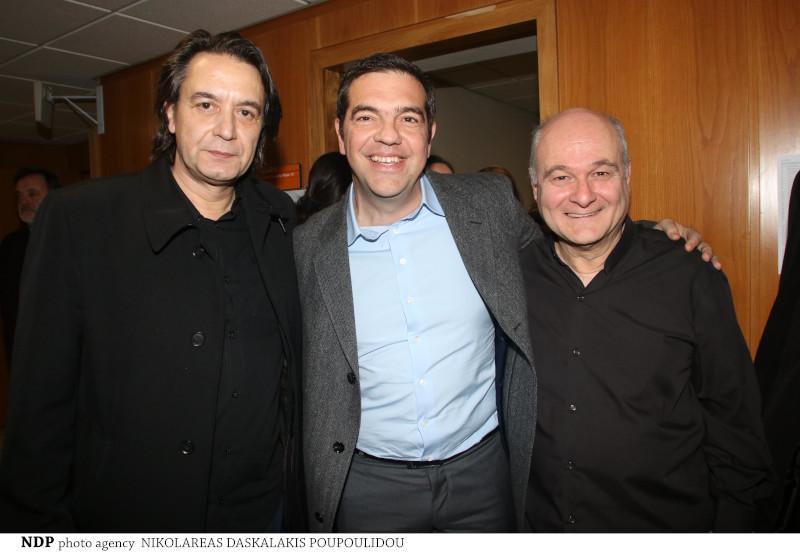 Ο Γιάννης Κότσιρας, ο Αλέξης Τσίπρας και ο Κώστας Θωμαΐδης