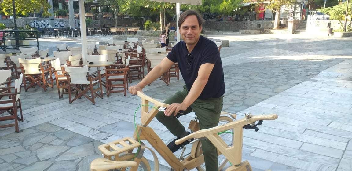 ξυλινο ποδηλατο