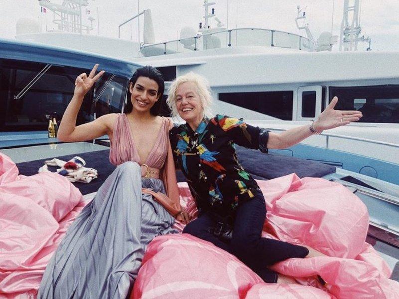 Η Τόνια Σωτηροπούλου με την φωτογράφο Ellen von Unwerth
