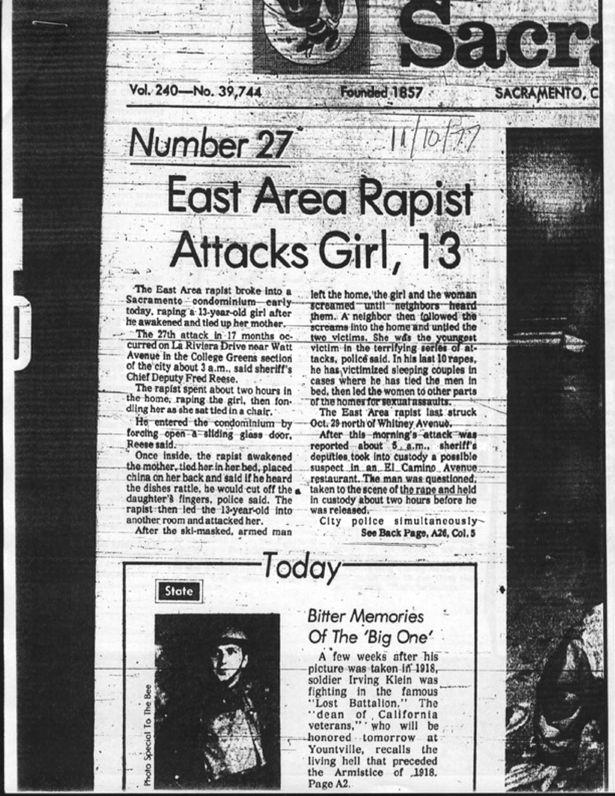 Τοπική εφημερίδα για την επίθεση στη 13χρονη τότε Μάργκαρετ