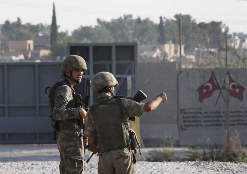 Η τουρκική εισβολή στη Συρία ξεκίνησε το απόγευμα της Τετάρτης / Φωτογραφία: AP