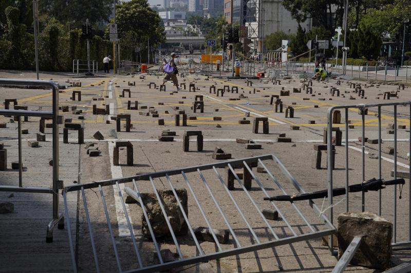 Ενας ακόμη μπλοκαρισμένος δρόμος στο Χονγκ Κονγκ